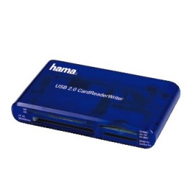 Hama 35 in1 USB 2.0 blue Multicard Reader