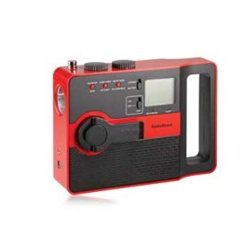 RadioShack® AM/FM Crank Red Radio