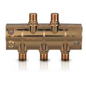 RadioShack® 1-in / 4-out 4 Way Gold-Plated Bidirectional Splitter