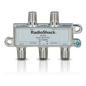 RadioShack® 1-in / 4-out Satellite 4-Way Splitter