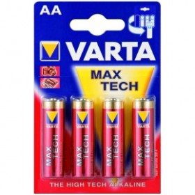 Varta 4706101404 Alkaline Max Tech AA Batteries - 4 Pack
