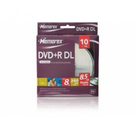 Memorex 8x Double-Layer DVD+R Spindle Box (10-Pack)