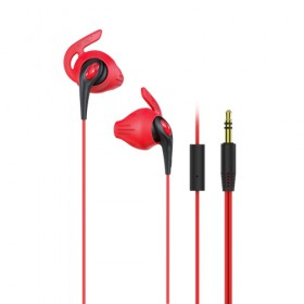 iLuv (FITACTRUNSRE) FitActive Run High Fidelity Stereo Sports Earphones-Red