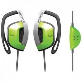 iLuv I303GRN Erabuds With Vertical Clip/ Volume Green