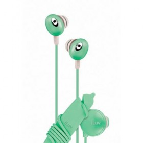 iLuv iEP311GRN The Bean In-Ear Stereo Earphone with Volume Control - Green
