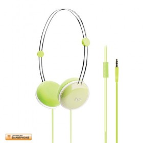 iLuv Headphone Sweet Coton Remote,Smartphone Green