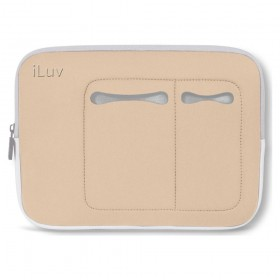 iLuv Mini Laptop Sleeve for MIni Laptops 7 - 10.2 Inches - Beige (IBG2000BGE)
