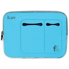 iLuv Mini Laptop Sleeve for 7-Inch to 10.2-Inch Mini Laptops - Blue (IBG2000BLU)