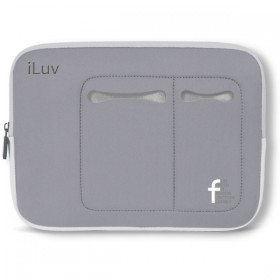 iLuv Mini Laptop Sleeve for Mini Laptops 7 to 10.2 Inches, Grey (IBG2000GRY)