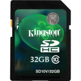 Kingston Digital 32 GB SDHC/SDXC Class 10 UHS-1 Flash Memory Card 30MB/s (SD10V/32GB)