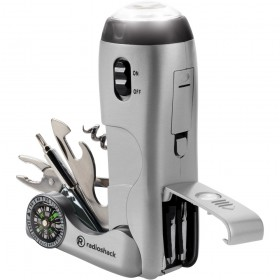 RadioShack 6301320 Multitool with Flashlight and Compass (Silver)