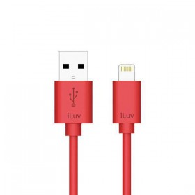 iLuv ICB263RED Charge/Sync Apple Lightning Connector Cable