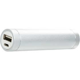 OMEGA OMPB26W POWER BANK 2600MAH 5V OUT: 1000MA SILVER [42156]; sockets (for iPhone / iPad (30pin), microUSB, miniUSB, Nokia), connection cable