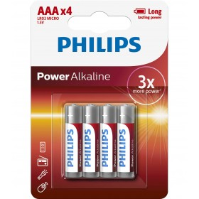 Philips LR03P4B/10  AAA Power Alkaline Battery