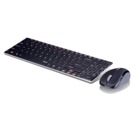 RAPOO 9060 WIRELESS ULTRA-SLIM KEYBOARD&MOUSE GRY