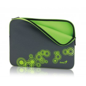 Genius Sleeve Bag GS-1401 Gray/Green 31280049102 up to 14 Inch notebook + Genius Mouse Micro Silver 31010100102