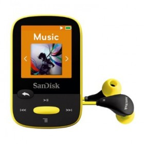 SanDisk SDMX24-004G-G46K  4GB internal memory and microSD slot (up to 16GB) MP3 PLAYER , Yellow