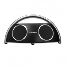 Harman Kardon HKGOPLAYMINIBLKAM GO + PLAY Portable Bluetooth Speaker, (Black)