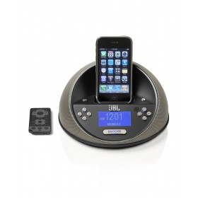 JBL 18005039 OTMICROBK On Time Micro Dock Speaker for Apple iPod/iPhone with AM/FM Radio (Black)
