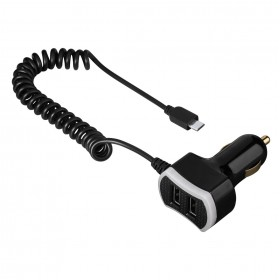 Hama 00014154 Triple Power Car Charger, micro USB, 7.2 A