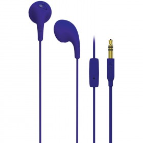iLuv BBGUMTALKS Bubble Gum Talk Colorful Stereo Earphones with Mic and Remote, Purple