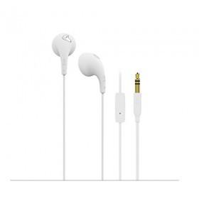 iLuv BBGUMTALKS Bubble Gum Talk Colorful Stereo Earphones with Mic and Remote, White