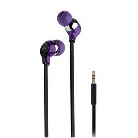 iLuv Party On (iEP314) Tangle-Resistant Ergonomic And Comfortable Fit Stereo Earphones, Purple
