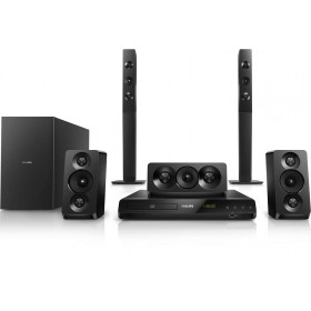 Philips HTD5550/98 Home theater 5.1 DVD Double basspipes HDMI ARC and USB Built-in Bluetooth, 1000W