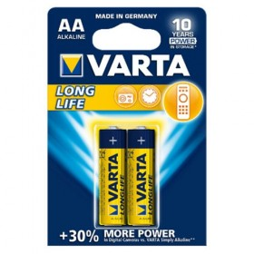 Varta 4106 Alkaline Long Life 2/AA Batteries, New