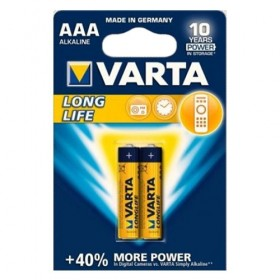 Varta 4103 Alkaline Long Life 2/AAA Batteries, New