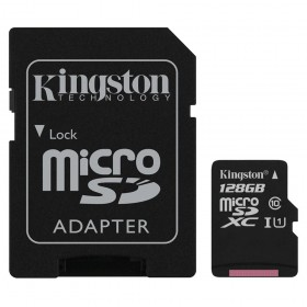 Kingston SDC10G2/128GB microSDHC/microSDXC Class 10 UHS-I Card with SD adapter