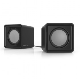 SPEEDLINK SL-810004-BK Twoxo Stereo Compact Cube USB Powered Speakers, black