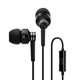 Iconz IMW-BH01K Metallic Bluetooth In-Ear Headset with volume control, Black