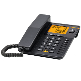 Alcatel T75 Caller ID Corded Landline Phone, Black