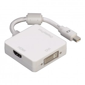Hama 00053245 3in1 Mini DisplayPort Adapter for DVI, Displayport or HDMI