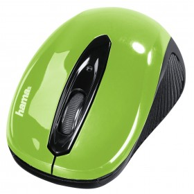 Hama 00086567 AM-7300 WIRELESS OPTICAL MOUSE,BLACK/GREEN