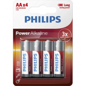 Philips LR6P4B/10 Power Alkaline Battery AA / LR6 Alkaline