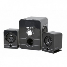 Omaga OG21USDB Loudspeakers 2.1 Omega 2x3W + 5W, USB, Card reader and FM Radio, Black