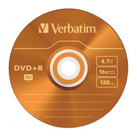 Verbatim 43556 DVD+R 4,7GB 16X 5 Pack Colour