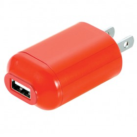 Wireless Gear DU1411  AC USB Charger (Red)
