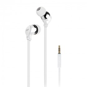 iLuv IEP314WHT Tangle-Resistant Comfortable Fit Stereo Earphones - WHITE