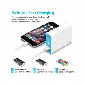 iLuv MYPOWER104 10400mah Portable Dual USB Port Charger Battery Pack Power Bank