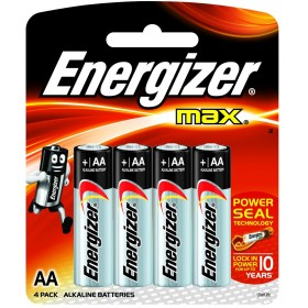ENERGIZER AA4 ALKALINE, MAX, 4 Pack