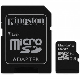 Kingston SDC10G2/16GB  16GB mircoSDHC Card Class 10 with SD adapter