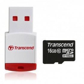 Transcend TS16GUSDHC10-P3 MicroSDHC Class 10 with P3 Card Reader (Premium)