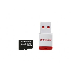 Transcend TS32GUSDHC10-P3 MicroSDHC Class 10 with P3 Card Reader (Premium)