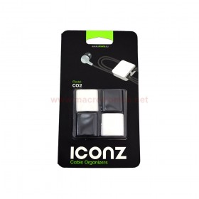 ICONZ IMN-CO2MKW CABLE ORGANIZR SQUARE BLACK/WHITE