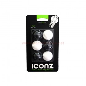 ICONZ IMN-CO3MKW CABLE ORGANIZER ROUND BLACK/WHITE