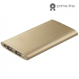 Hama 00173734 Premium Alu Power Pack, 5000 mAh, gold