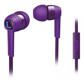 PHILIPS SHE7055PP/00 CITISCAPE IN EAR HEADPHONES WITH MIC, PURPLE